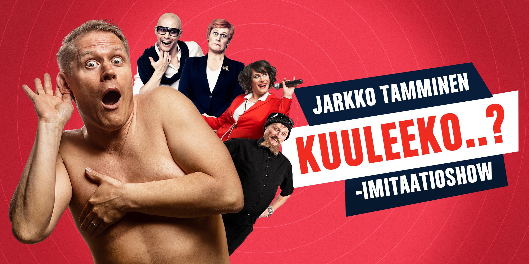 Jarkko Tamminen Kuuleeko..?-tapahtuman mainoskuvassa